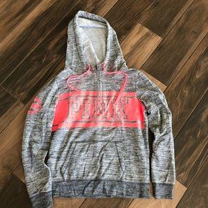 VS PINK lightweight zip up logo hoodie